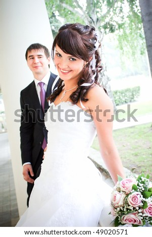 Bride and Groom - stock photo