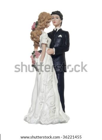 bride figurines - stock photo