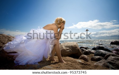 bride of the sea - stock photo