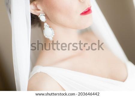 Bride on the wedding day - stock photo
