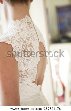 Bride preparation - stock photo