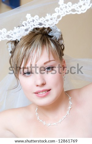 bride puts on the veil