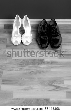 Bride's and groom's shoes