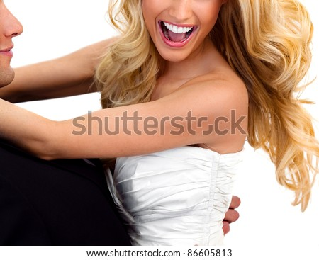 Bride Smiling Woman Teeth 2 - stock photo