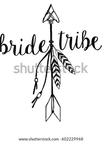 bride tribe hand drawn arrow stock illustration 602229968 shutterstock