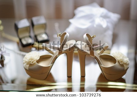 Brides accessories - stock photo