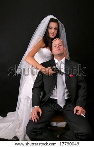 bridezilla - stock photo