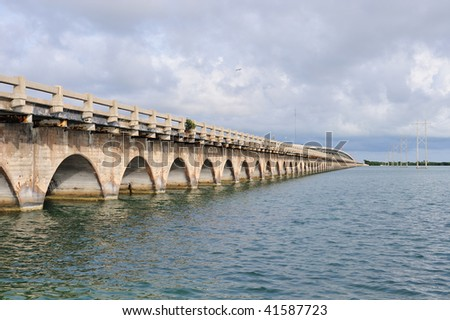 Bridge Across the Florida Keys - stock photo