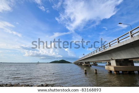 Bridge Across the Sea - stock photo