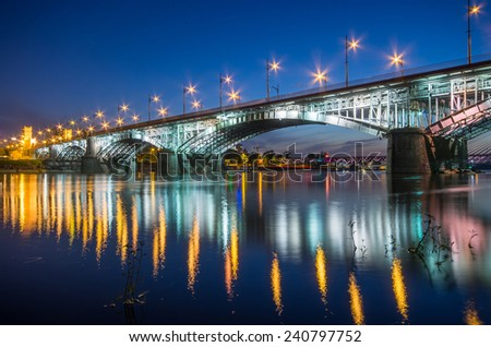 Bridge at night - stock photo