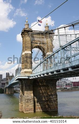 Bridge between Ohio and Kentucky - stock photo
