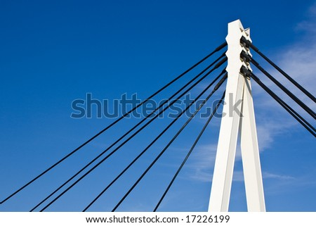 Bridge construction detail - stock photo