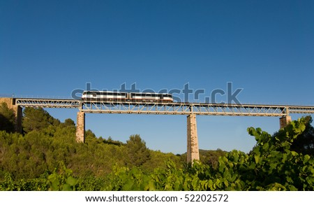 Bridge crossing - stock photo