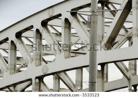 bridge footing - stock photo