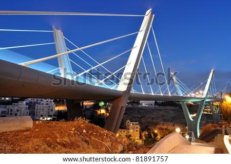 Bridge in Amman,Jordan - stock photo