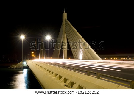 Bridge in Bahrain - stock photo