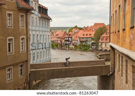 bridge in bamberg, germany - stock photo