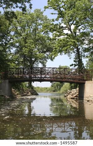 Bridge in Forest Park - stock photo