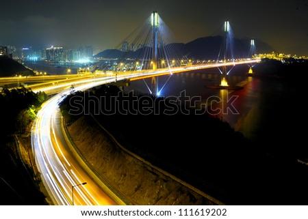 Bridge in Hong Kong - stock photo