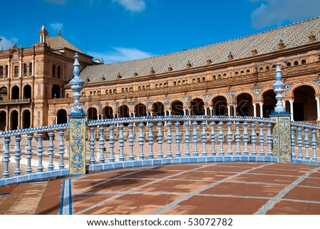 Bridge in Plaza de Espana, Seville - stock photo