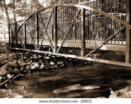 bridge in sepia - stock photo