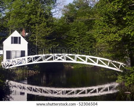 Bridge in Somesville, Mount Desert Island, Maine - stock photo