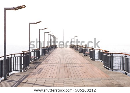 Bridge in to the sea coast
