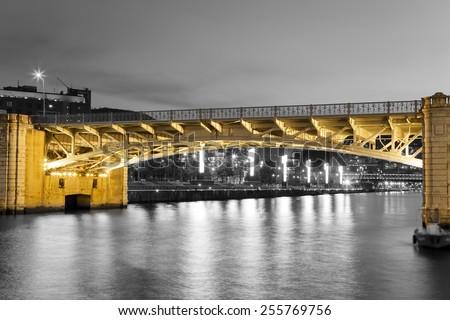 Bridge of Deusto, Bilbao, Bizkaia, Basque Country, Spain - stock photo