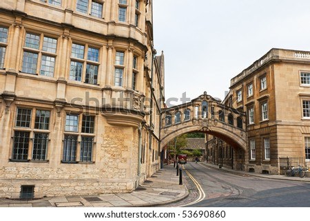 Bridge of Sighs. Oxford, England - stock photo