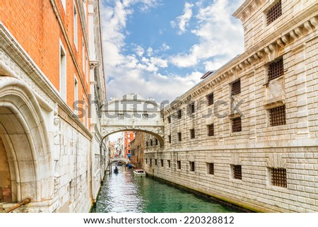 Bridge of Sighs - Ponte dei  Sospiri.Venice,Veneto, Italy, Europe. - stock photo