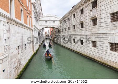 Bridge of Sighs, Venice, Italy - stock photo