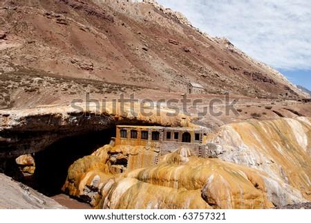 Bridge of the Inca, Mendoza, Argentina - stock photo