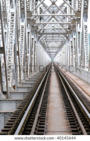 Bridge of Train track - stock photo