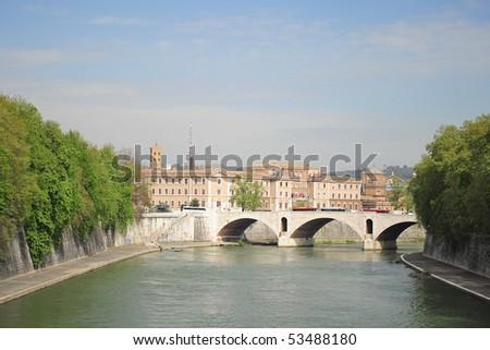 Bridge of Vatican - stock photo