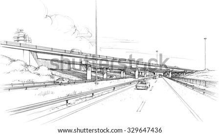 Architectural Drawings Of Bridges bridge drawing stock images, royalty-free images & vectors