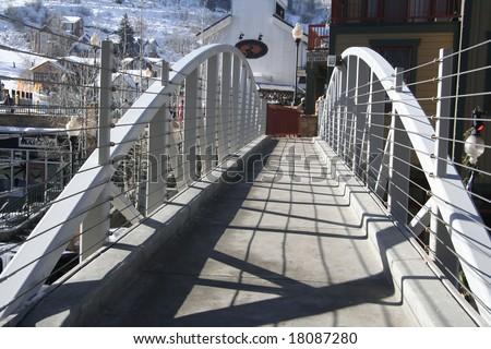 Bridge over main street, Park City, Utah - stock photo