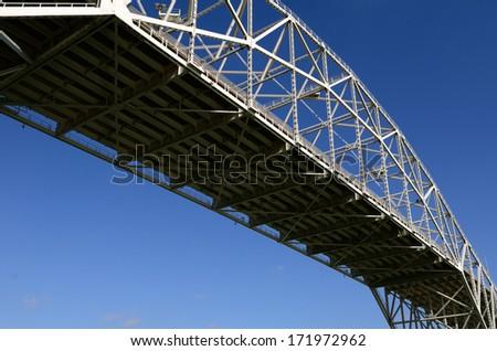 Bridge over Oso Bay in Corpus Christi Texas - stock photo