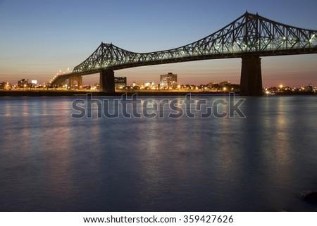 Bridge over river - stock photo