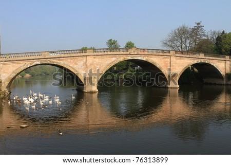 Bridge over River Severn, UK. - stock photo