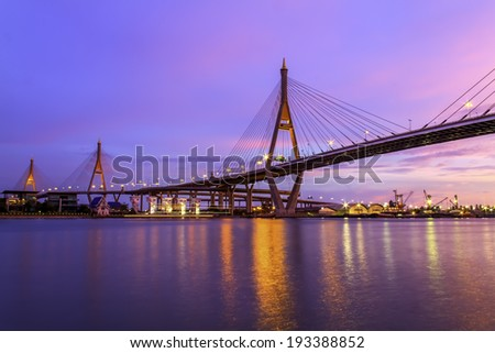 Bridge over the Chao Phraya River in Bangkok
