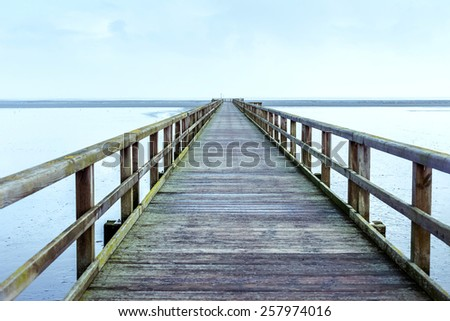Bridge over the water - stock photo