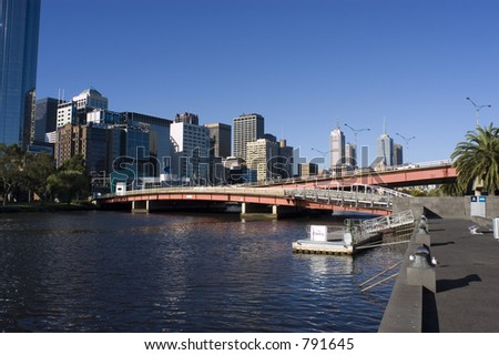 Bridge over Yarra river in Melbourne
