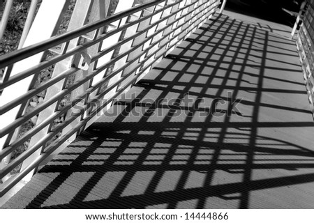 Bridge shadows - stock photo