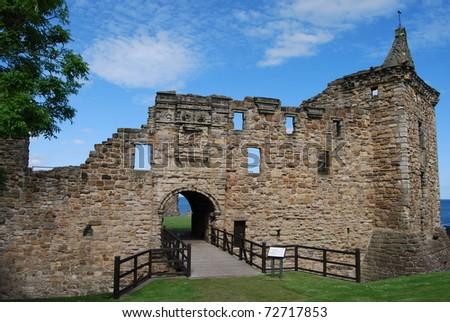 Bridge To st. Andrews Castle - stock photo