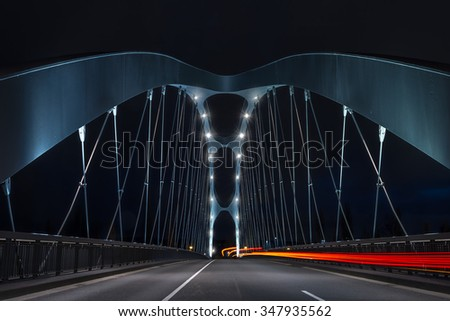 Bridge with night traffic
