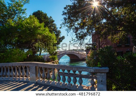 Bridges at the Public Garden of Venice, Italy
