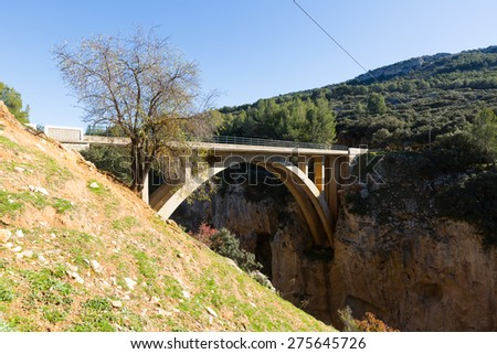 Bridges over Guadalentin  river. Andalusia, Spain