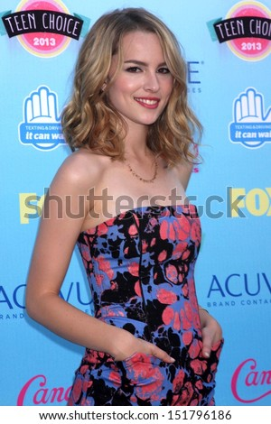 Bridgit Mendler at the 2013 Teen Choice Awards Arrivals, Gibson Amphitheatre, Universal City, CA 08-11-13 - stock photo