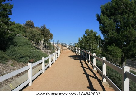 Bridle path in the hills of suburban Orange County, California - stock photo