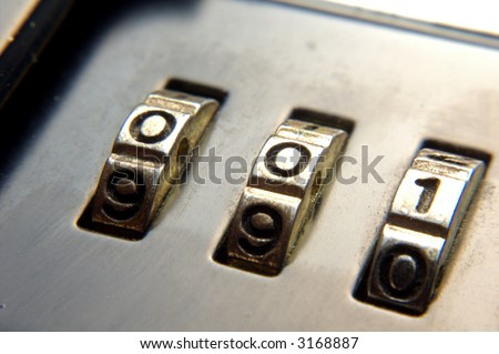 briefcase lock closeup